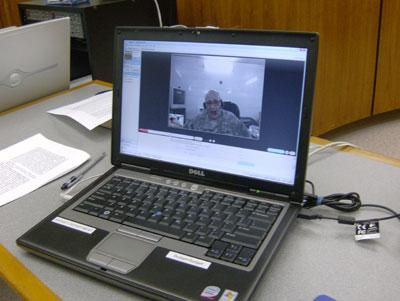 Col. Hector Henry participates in Concord City Council meetings from Baghdad.