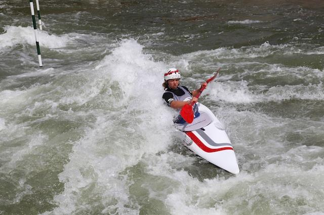 Carolina Queen training at the US National White Water Center in Charlotte.
