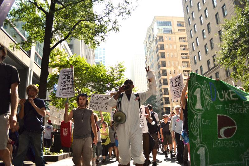 Scenes from the Duke Energy protest