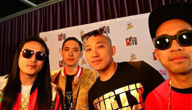 "The LA hip hop quartet Far East Movement, best known for their 2010 #1 Billboard hit ""Like a G6,"" performed at an event at Mez Tuesday sponsored by Rock the Vote."
