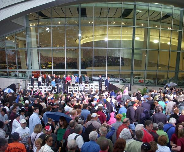The grand opening of the NASCAR Hall of Fame.