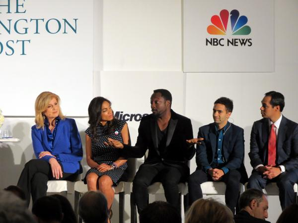 Arianna Huffington, Rosario Dawson, will.i.am, Jeremy Heimans, San Antonia Mayor Julian Castro