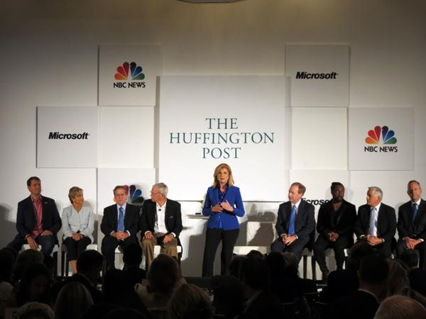Arianna Huffington and panel.