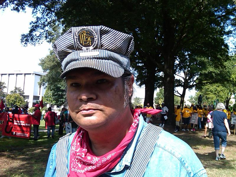 Charlotte Labor Day Parade organizer Ben Lee, a member of the Brotherhood of Locomotive Engineers and Trainmen.
