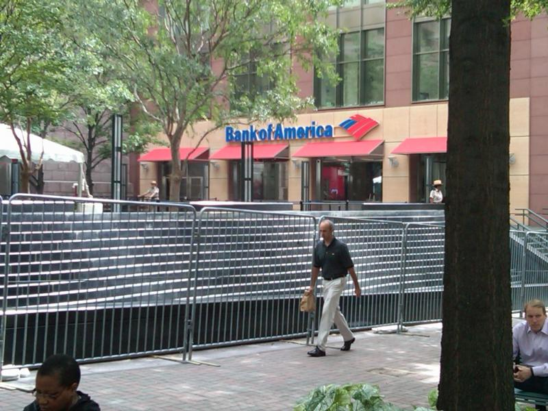 Securtiy fencing around BofA