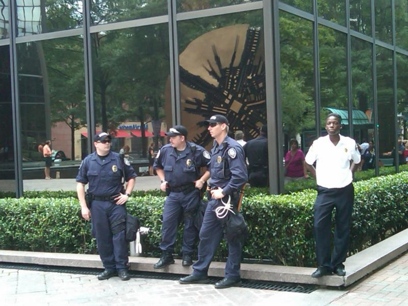 Security guards at BofA