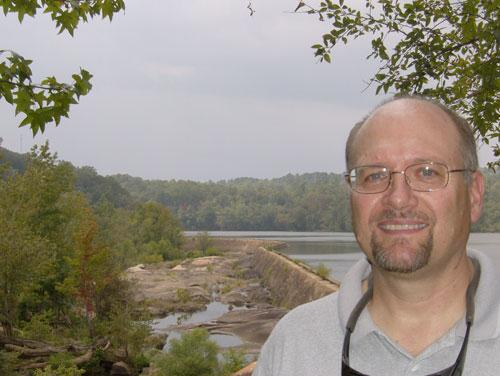 Gerrit Jobsis of American Rivers on the banks of the Catawba River