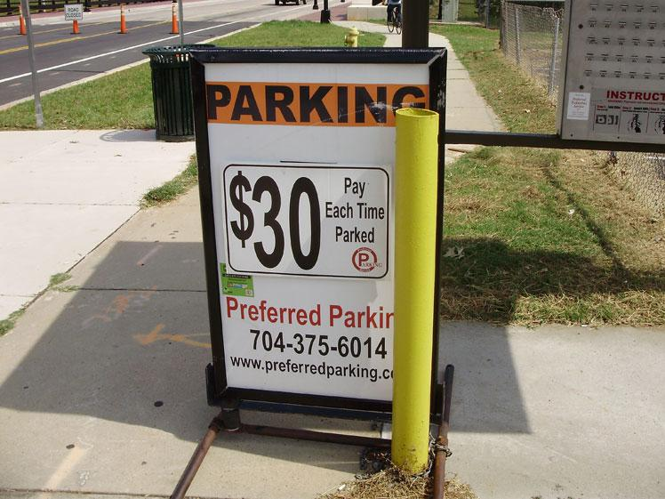 Parking prices are at a premium. Use of public transportation is encouraged.