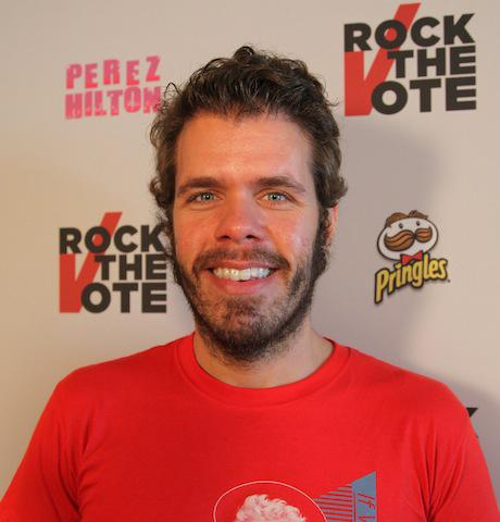 Celebrity gossip blogger Perez Hilton hosted the Rock the Vote party at Mez.