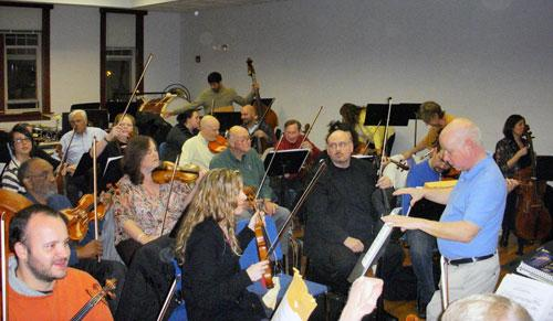 The Salisbury Symphony practicing. Photo: Marshall Terry.