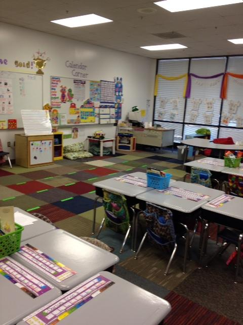 A classroom at Sugar Creek Charter school.