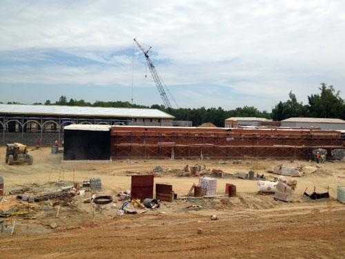Construction of UNCC's football stadium progresses. Photo: Lisa Miller