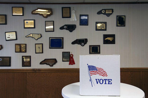 Of the 1,400 registered voters in Marshville, only about 360 submitted their ballots.