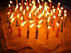 A birthday cake.  align=left