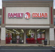 The outside of a Family Dollar store.