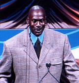 Michael Jordan speaking to the Charlotte Chamber hspace=2