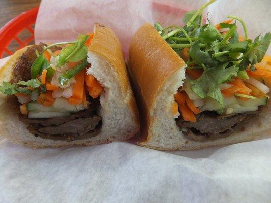 Grilled Pork Banh Mi at Le's Sandwiches & Cafe on N. Tryon St.