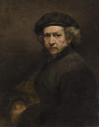 Rembrandt van Rijn, Self-Portrait, 1659, oil on canvas, 33 1/4 x 26 in., National Gallery of Art, Andrew W. Mellon Collection,