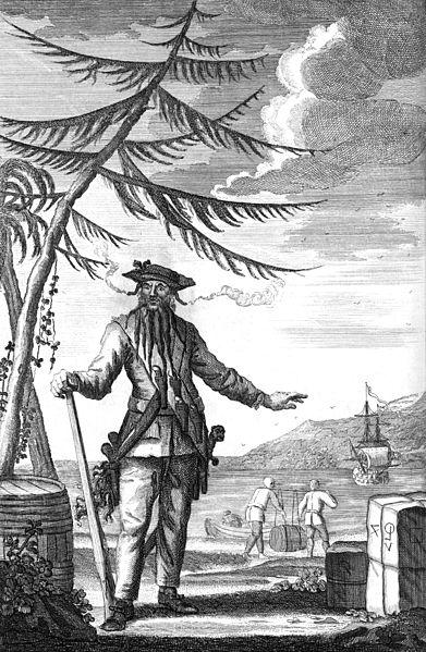 Blackbeard (c. 1736 engraving used to illustrate Johnson's General History)
