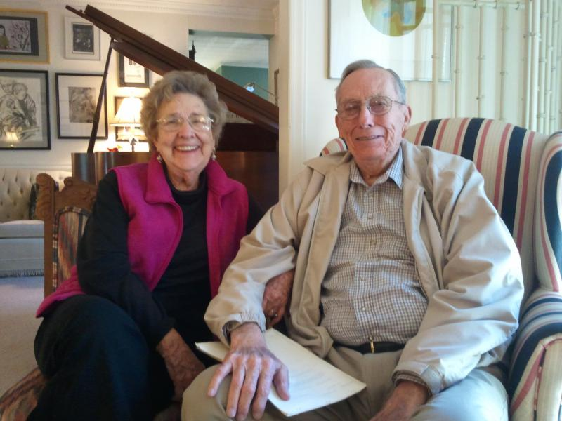 Bob Powell, who was in charge of the Wilkesboro ATF office in the '70s, sits with his wife, Betty, in their living room