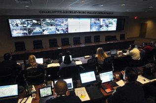 CMPD's command center in uptown Charlotte.