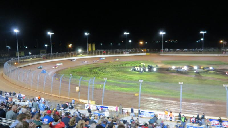 More than 100 cars showed up for a chance to qualify in the World of Outlaws Late Models feature race or the National Dirt Racing Association Late Models feature race.