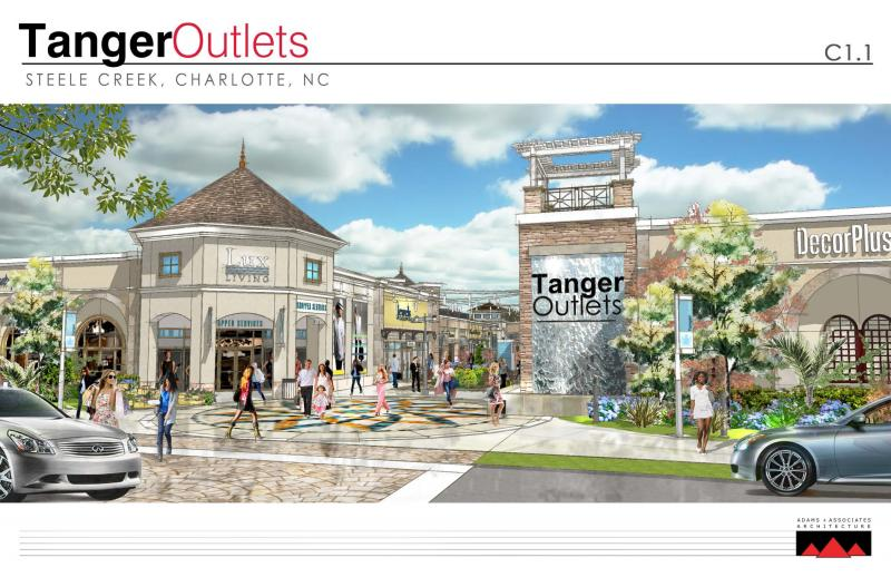 Artist rendering of the new shopping center