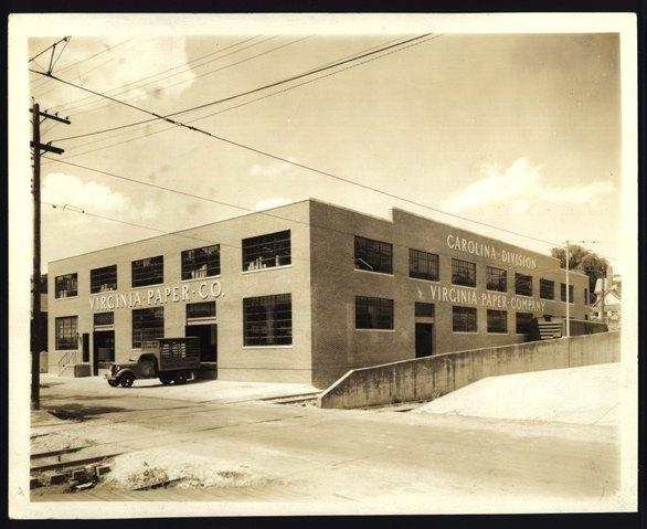 Virginia Paper Company Building back in the day