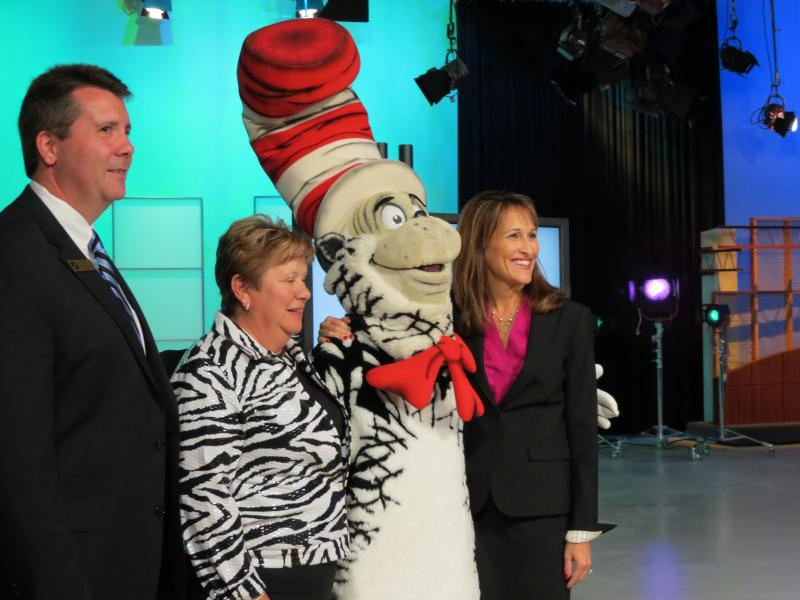 The Cat in the Hat makes a special guest appearance at WTVI.