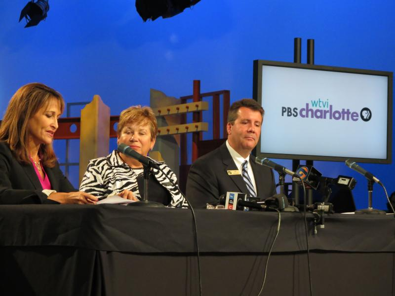 From Left: Lesli Rotenberg, senior vice president of children's media, marketing and communications for PBS, Kathy Drumm, executive vice president at CPCC and Jeff Lowrance.