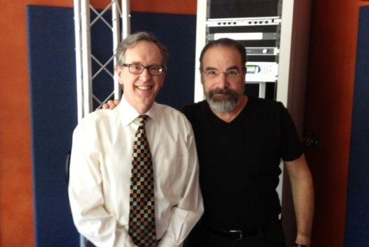 Mike Collins with Mandy Patinkin in our Spirit Square studio.