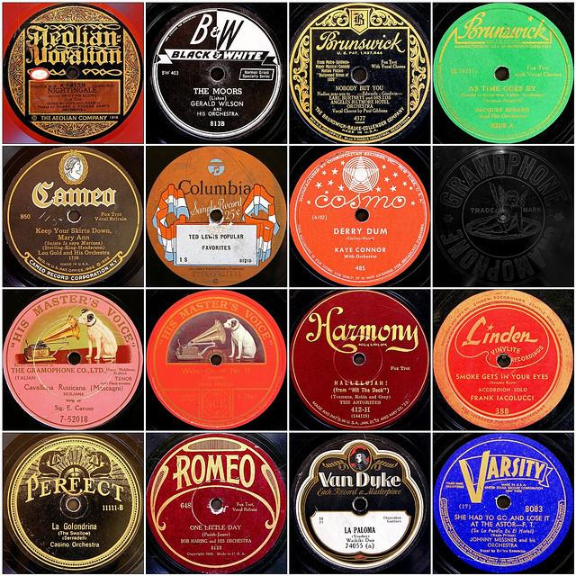 Old 78 records.