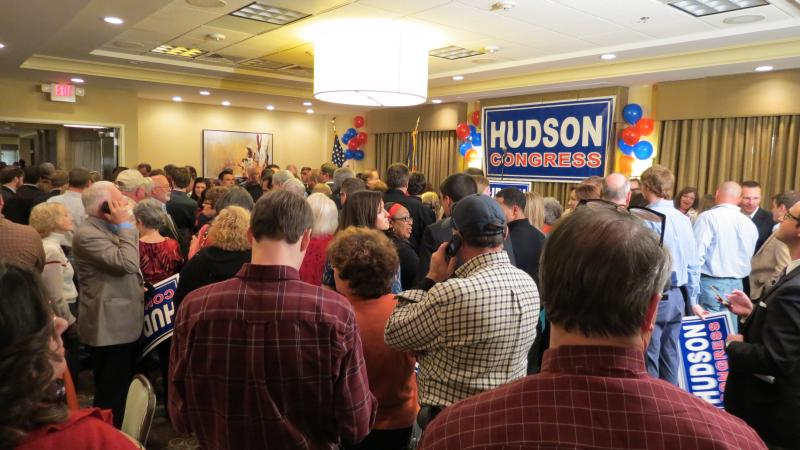 Richard Hudson won the eighth district seat with more than 53 percent of the vote