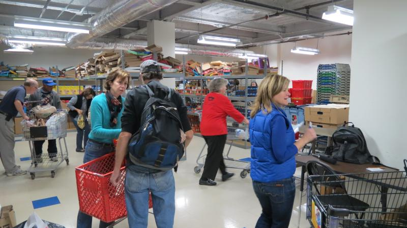 The day before Thanksgiving is the busiest of the year for the Loaves and Fishes food pantry in uptown Charlotte