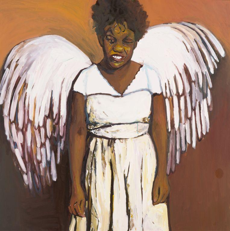 Beverly McIver. Renee as an Angel. Oil on Canvas. 2008