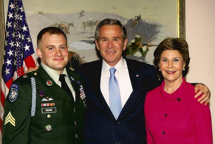 Tommy Rieman with President George Bush and Laura Bush