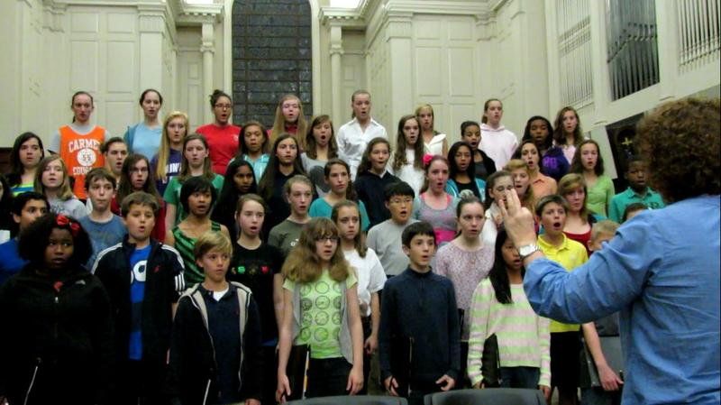 The Charlotte Children's Choir rehearses at Myer's Park Baptist Church