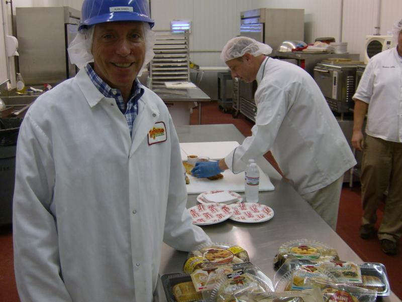 Stefano Foods Vice President of Sales and Marketing Alan Hamer in the company's test kitchen.