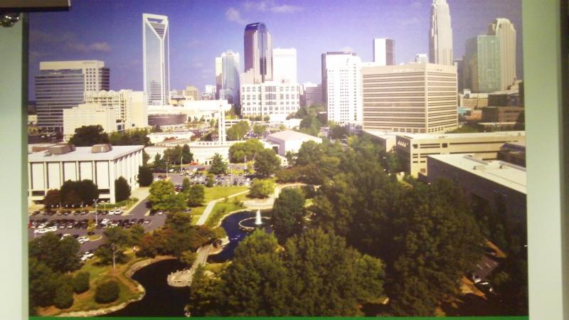 An exhibit at the Levine Museum of the New South shows what Charlotte looks like now.