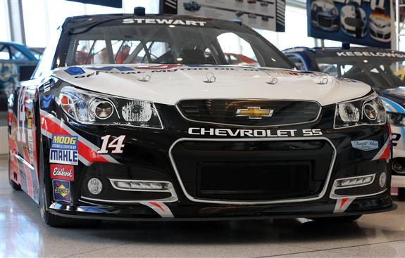 The new Chevrolet SS NASCAR stock car