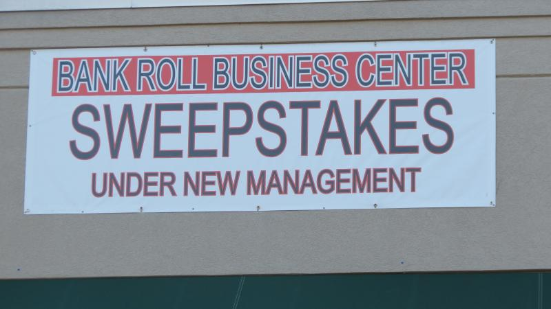 The Bankroll Business Center sweepstakes parlor on Tryon Street in Charlotte