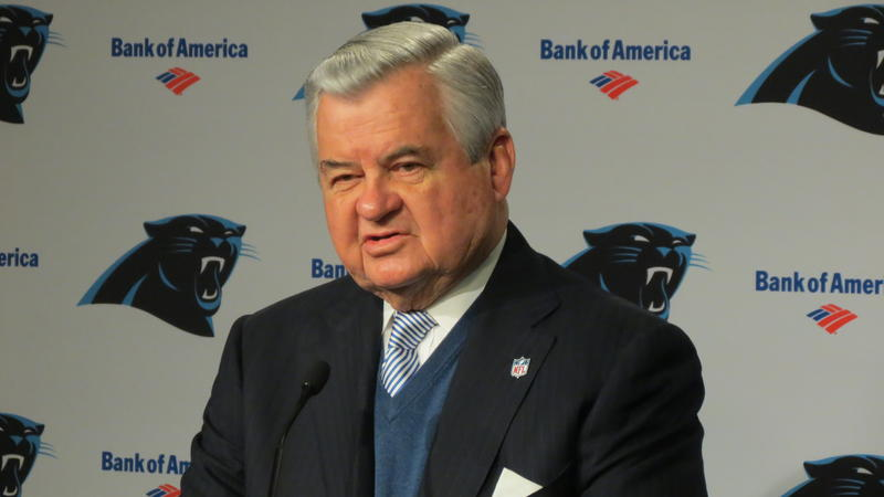 Panthers' owner Jerry Richardson introduces the team's new general manager, Dave Gettleman.