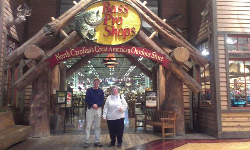 Johnny Seagraves drove from Greensboro, N.C. to buy a rifle from Bass Pro Shops with his wife Ginny. Bass Pro Shops will open a second store in Cary, N.C. by early 2014.