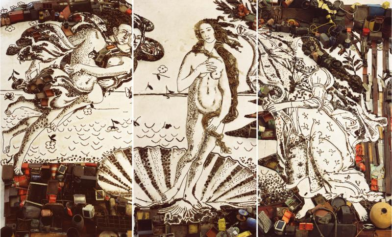 The Birth of Venus, after Botticelli, Pictures of Junk, 2008