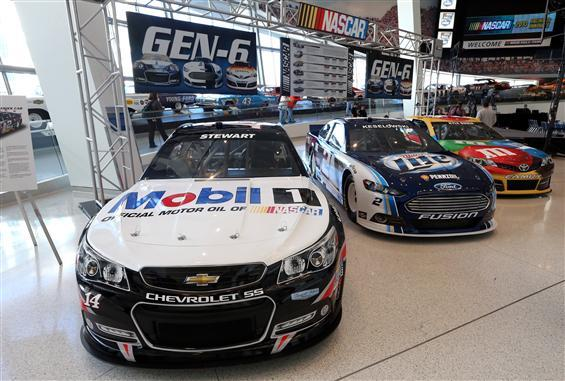 The new Chevrolet, Ford and Toyota Gen-6 race cars