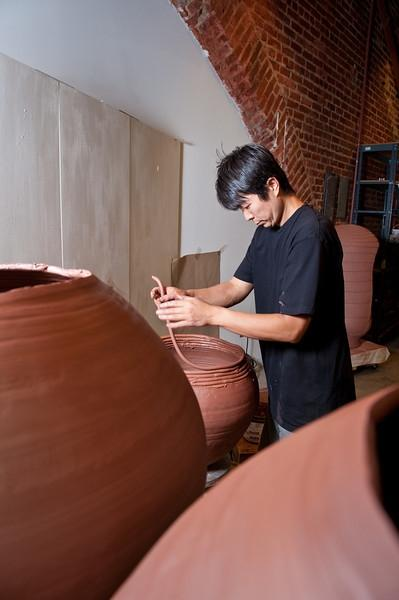 Tomoo Kitamura is a Resident Artist that lives in Charlotte. The McColl reserves two studios for local artists.