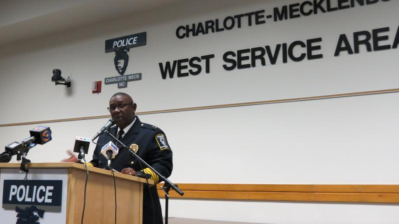 CMPD Chief Rodney Monroe says crime increased by 2.8% overall city-wide.