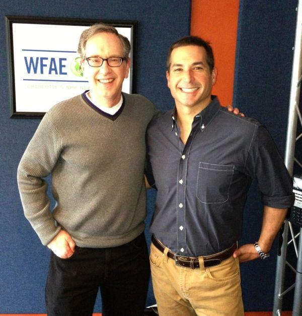 Bobby Deen with Mike Collins in our Spirit Square studio.