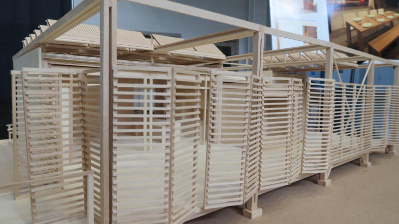 "A model of ""Urban Eden,"" the home students are building for the 2013 Solar Decathlon."