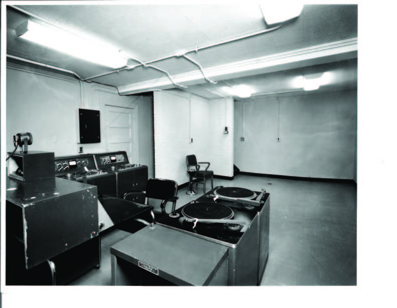 WBT's bomb shelter shortly after it was built in 1963.